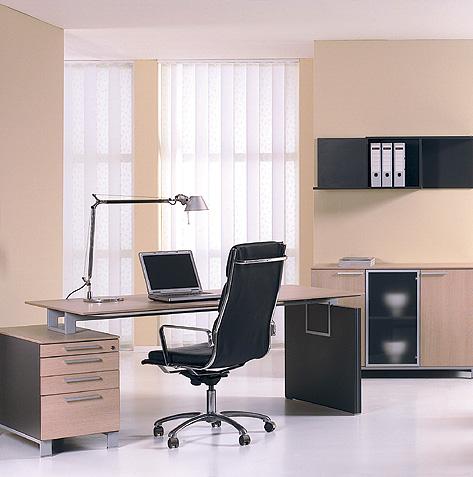 Meble gabinetowe Binar biurko oraz szafy gabinetowe