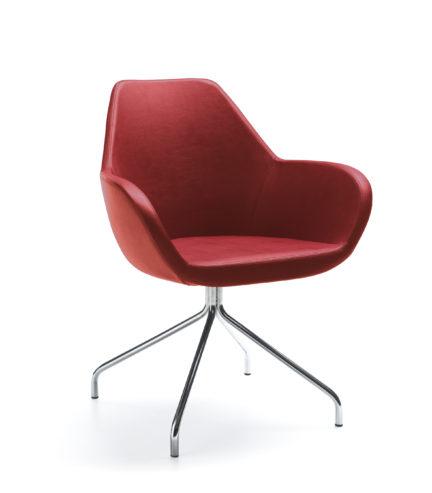Krzesło konferencyjne FAN 10H chrom_SL-25