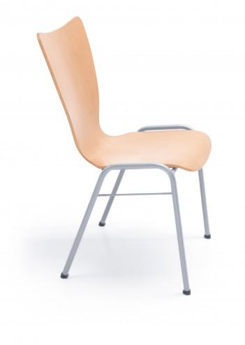 Krzesło sklejkowe Ligo K11 H chrome