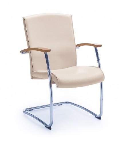 Krzesło konferencyjne na płozie NIKO 21V chrom