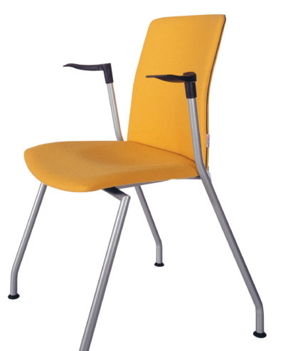 Krzesło konferencyjne OLO 11H metalik +2P stopki