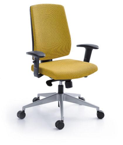 Krzesło obrotowe Raya 21S czarny P45PU + baza metalik