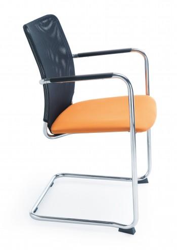 Krzesło konferencyjne na płozie Sun V chrom 2P