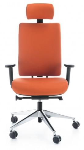 Krzesło obrotowe z zagłówkiem VERIS 11SFL P54PU chrom