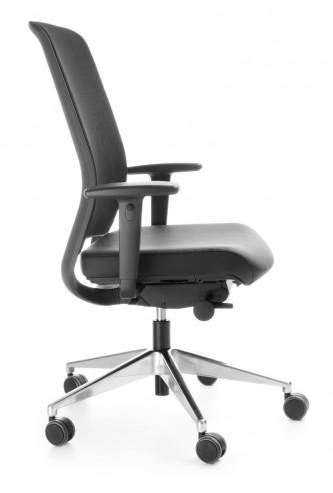 Krzesło biurowe z oparciem siatkowym Veris NET 101SFL chrom P48PU