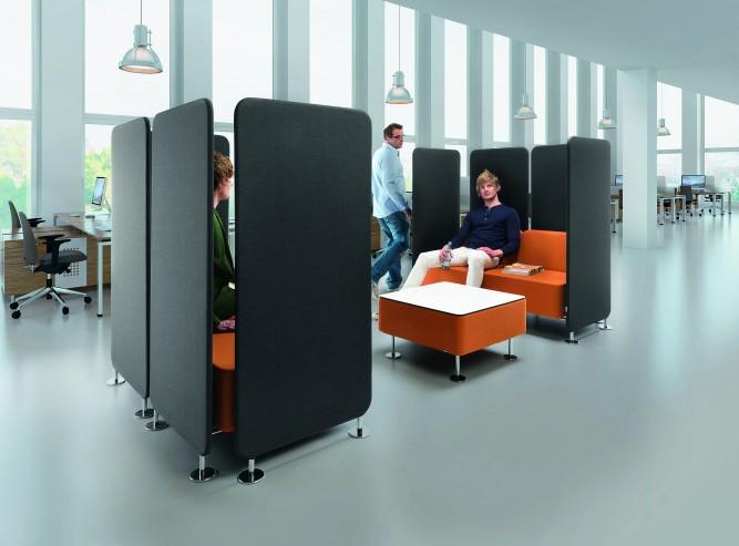 System siedzisk recepcyjnych i ścianek tapicerowanych Wall In