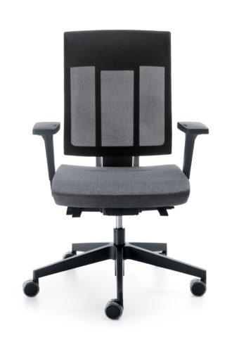 Krzesło obrotowe Xenon NET 100STL czarny P59PU front