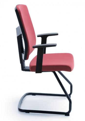 Krzesło konferencyjne na płozie raya 21V czarny P46PU