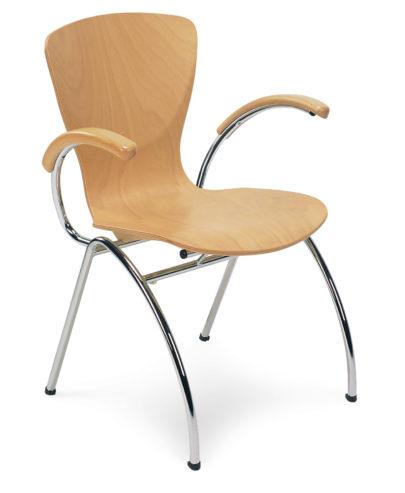 Krzesło Bingo arm chrome 1007