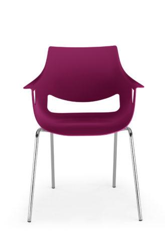 Krzesło Fano chrome mat fioletowe