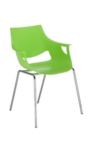 Krzesło Fano chrome mat pistacjowe