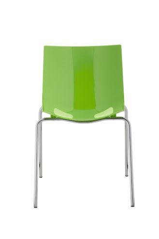 Krzesło Fondo chrome gloss zielone