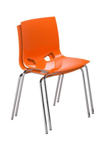 Krzesło Fondo chrome gloss pomarańczowe