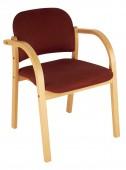 Krzesło konferencyjne na ramie drewnianej Elva