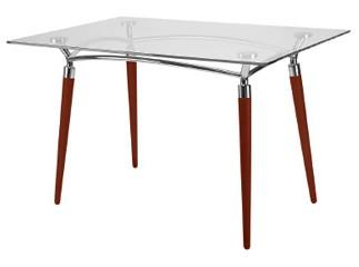Algeo stół do kawiarni z blatem szklanym 120x80 cm