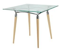 Algeo stół z blatem szklanym fi 800
