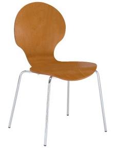 Frappe krzesło sklejkowe do kawiarni Nowy Styl