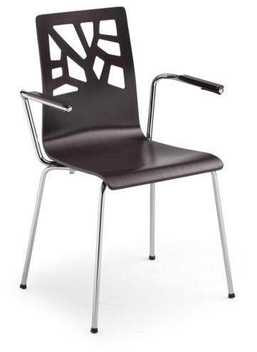 Krzesło VERBENA ARM chrome 1033