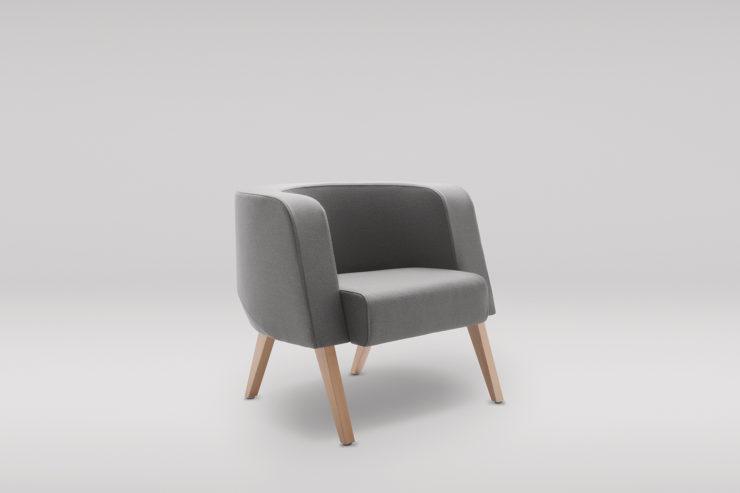 Fotel NEON L drewniane skos