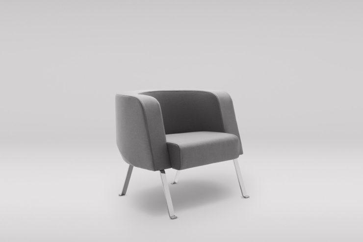 Fotel NEON L metalowe skos
