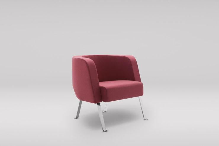 Fotel NEON M metalowe skos