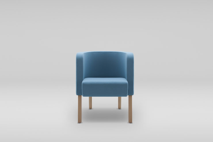 Fotel NEON S drewniane