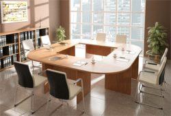 Stół konferencyjny na podstawie płytowej